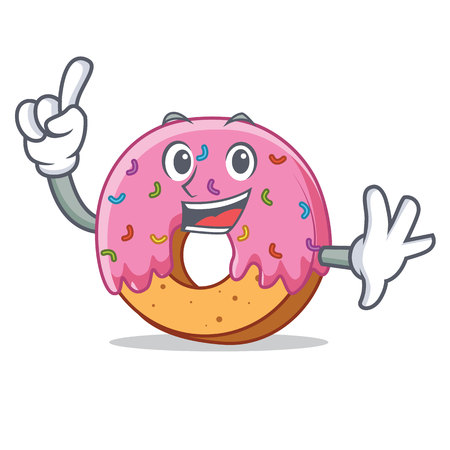 Finger Donut mascot cartoon style