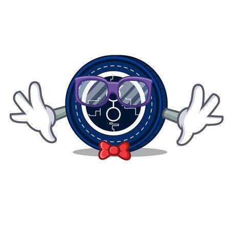 Geek golem coin character cartoon