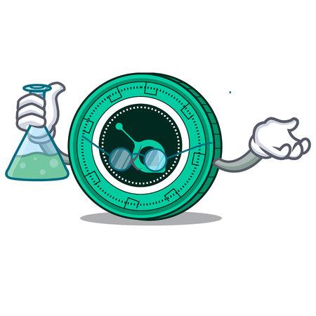 Professor SiaCoin character cartoon style