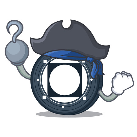 Pirate Byteball Bytes coin character cartoon Illustration