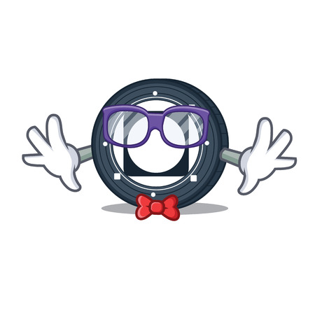 Geek Byteball Bytes coin character cartoon vector illustration  イラスト・ベクター素材