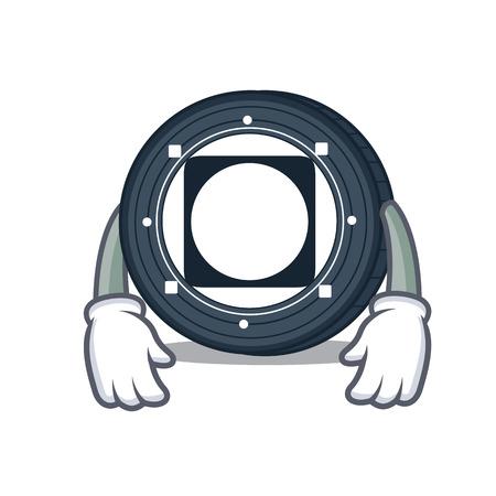 Tired Byteball Bytes coin mascot cartoon vector illustration