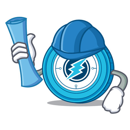 Architect Electroneum coin character cartoon