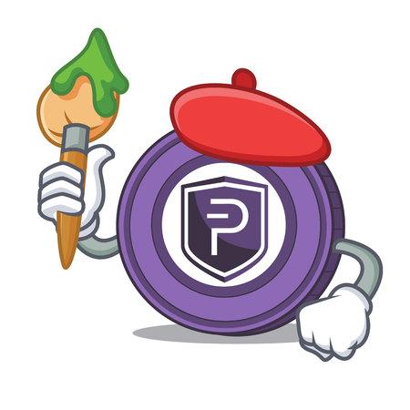 Artist Pivx coin character cartoon