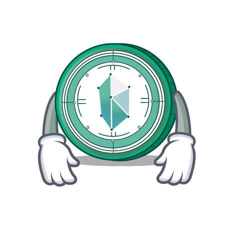 Tired Kyber Network mascot cartoon