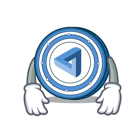 Tired maid safe coin mascot cartoon style