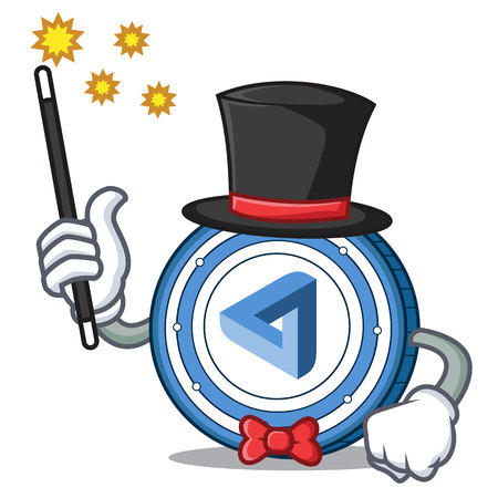 Magician maid safe coin mascot cartoon style