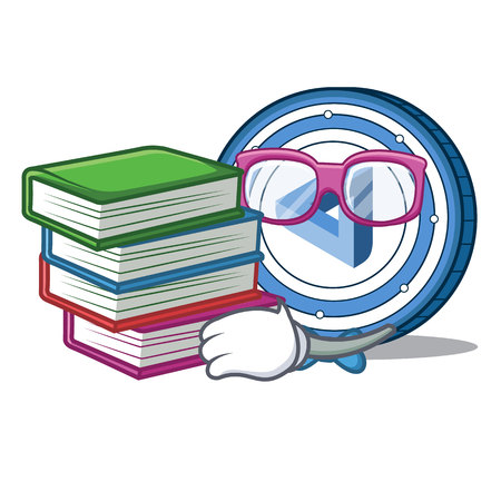Student with book maid safe coin mascot cartoon style