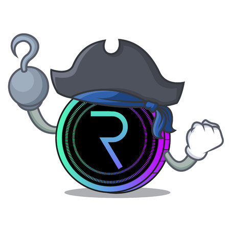 Pirate request network coin character cartoon