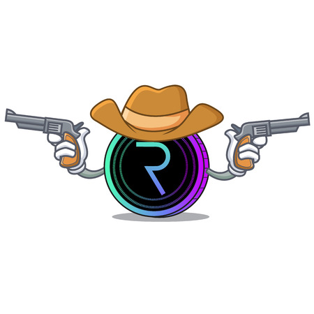 Cowboy request network coin character cartoon