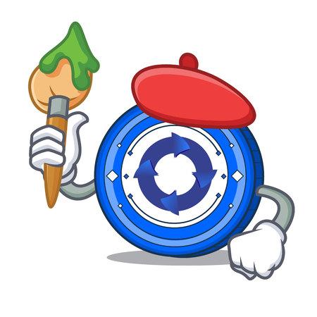 Artist Cryptonex coin character cartoon