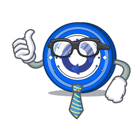 Businessman Cryptonex coin character cartoon Illustration
