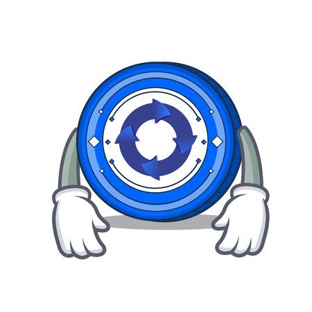 Tired Cryptonex coin mascot cartoon vector illustration