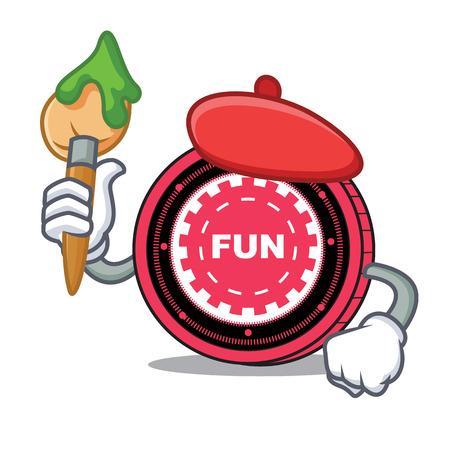 Artist FunFair coin character cartoon