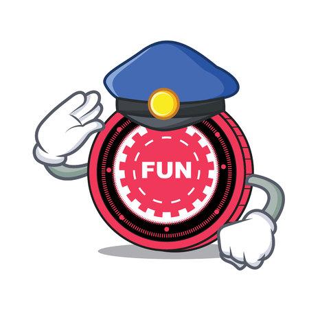 Police FunFair coin character cartoon