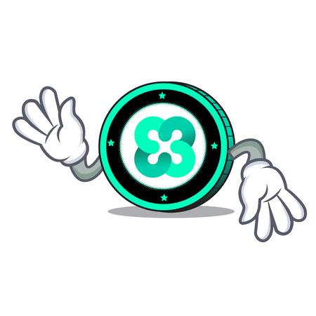 Crazy Ethos coin mascot cartoon