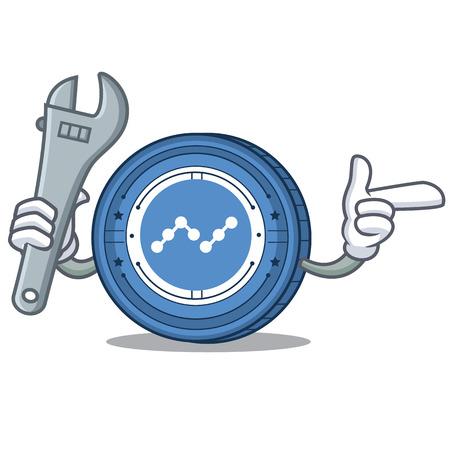 Mechanic Nano coin mascot cartoon