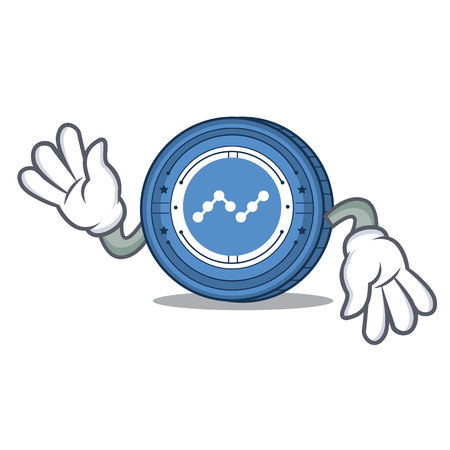 Crazy Nano coin mascot cartoon Illustration