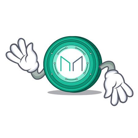 Crazy Maker coin mascot cartoon vector Illustration