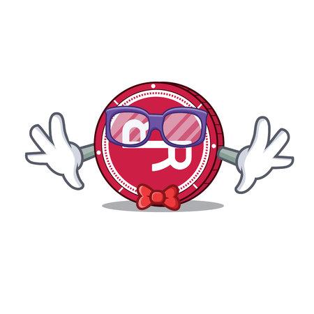 Geek R Chain coin character cartoon vector illustration. Stock fotó - 96071829