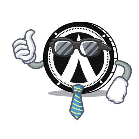 Businessman Dentacoin mascot cartoon style vector illustration Illustration