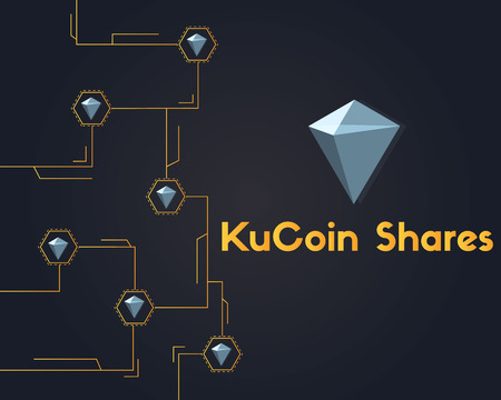 KuCoin Shares cryptocurrency circuit networking background vector illustration 일러스트