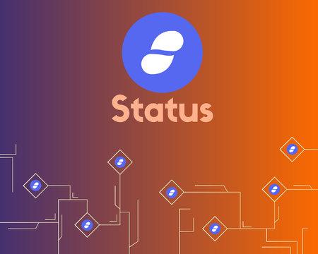 Cryptocurrency status circuit network style background Stock Illustratie