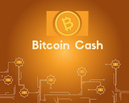 Blockchain bitcoin cash circuit concept background collection