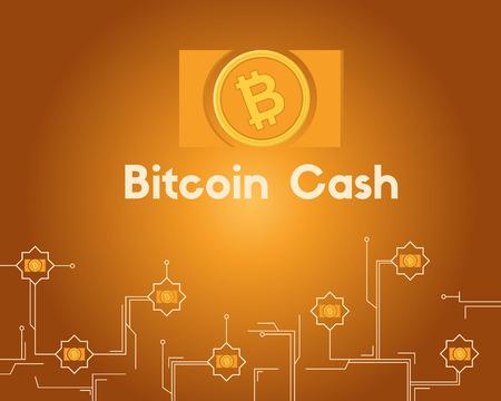 Blockchain bitcoin cash circuit concept background collection Stockfoto - 96828399