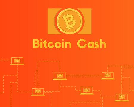 Blockchain bitcoin cash network technology background collection Stockfoto - 96828405