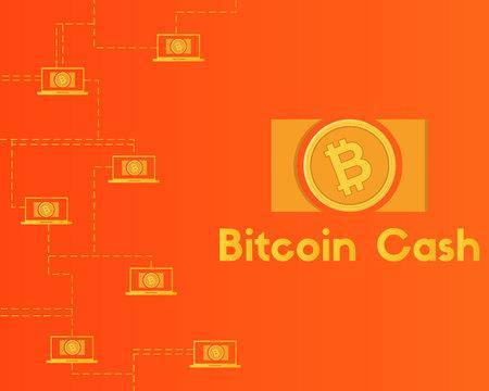 Blockchain bitcoin cash network technology background collection Stockfoto - 96828406