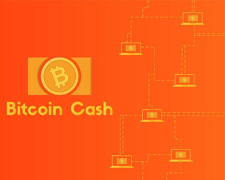 Blockchain bitcoin cash network technology background collection Stockfoto - 96828407