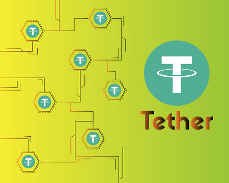 Tether cryptocurrency blockchain virtual background style