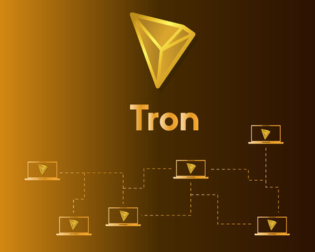 Cryptocurrency tron blockchain networking background