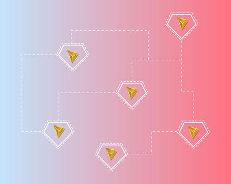 Cryptocurrency tron blockchain technology style background Ilustração
