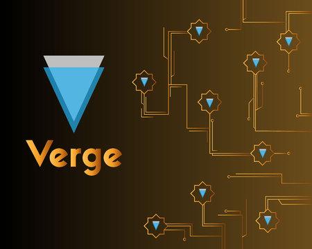 Blockchain verge circuit network background collection vector illustration Stockfoto - 97194356