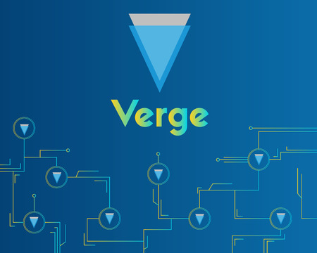 Blockchain verge circuit technology background collection vector illustration
