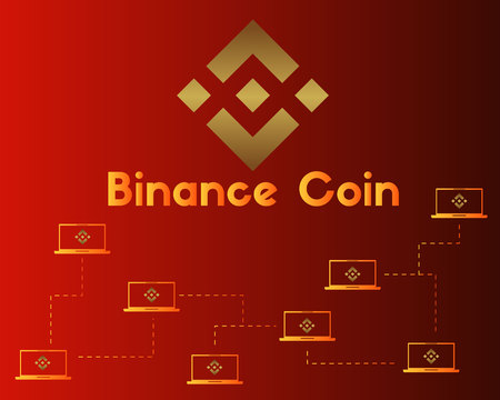 Binance coin cryptocurrency style background