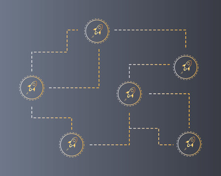 Blockchain stellar technology style background