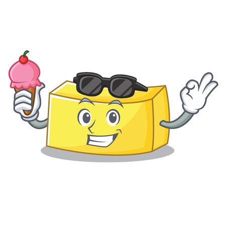 Con gelato al burro carattere stile cartone animato