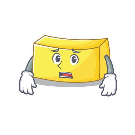 Afraid butter mascot cartoon style vector illustration Illustration