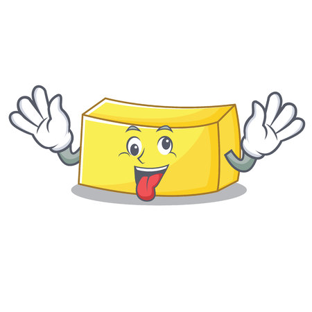 Crazy butter mascot cartoon style Vector illustration. Illustration