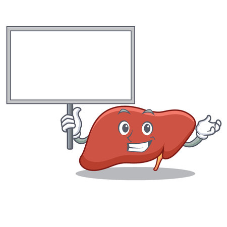 Bring board liver character cartoon style