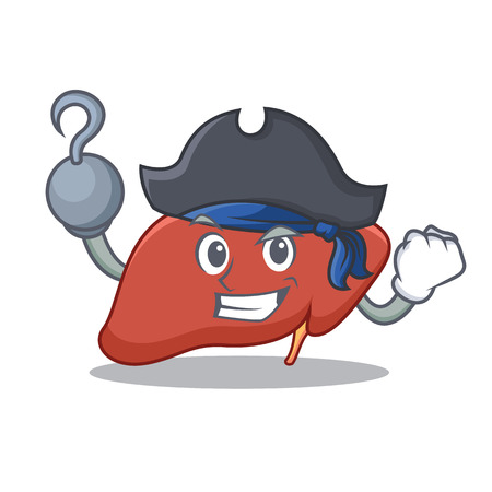 Pirate liver character cartoon style Vector illustration.