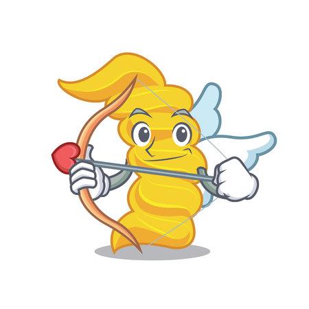 Cupid fusilli pasta character cartoon