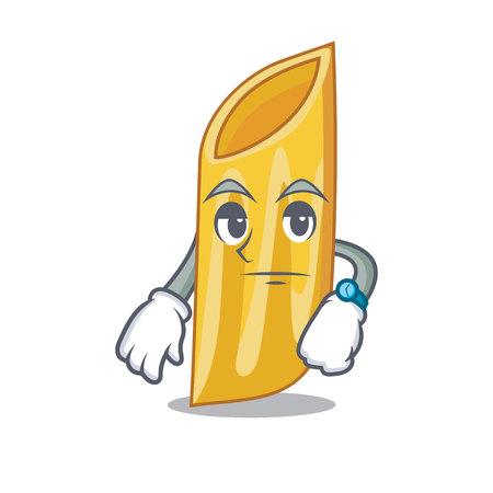 Waiting penne pasta character cartoon vector illustration Vettoriali