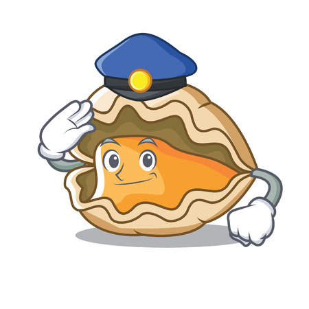 Police oyster character cartoon style