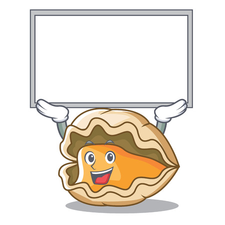 Up board oyster character cartoon style Illustration