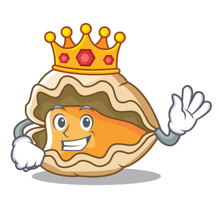 King oyster mascot cartoon style vector illustration