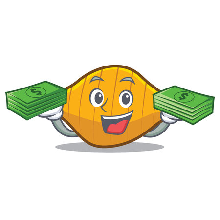 With money conchiglie pasta mascot cartoon Illustration